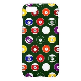 Grünes Pool-Ball-Billard-Muster iPhone 8/7 Hülle