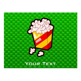 Grünes Popcorn Postkarte