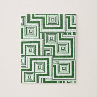 Grünes Puzzlespiel Puzzle