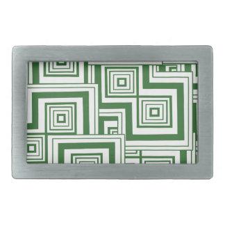 Grünes Puzzlespiel Rechteckige Gürtelschnalle