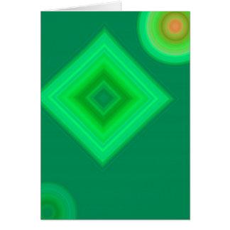 Grünes Quadrat ein Floss Karte