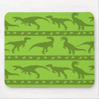 Grünes Raubvogel-Muster Mauspads