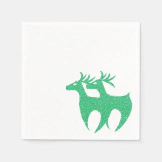 Grünes Renservietten Weihnachten Papierserviette
