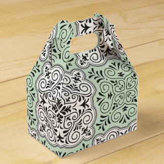 Grünes Rokoko-Muster blühen Geschenkschachtel