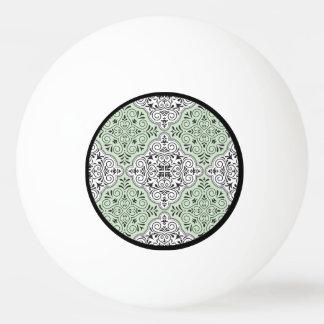 Grünes Rokoko-Muster blühen Tischtennis Ball