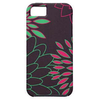Grünes Rosa und moderne Blumen Browns iPhone 5 Etui