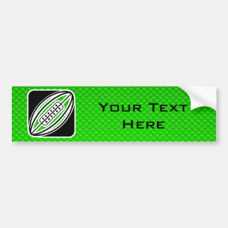 Grünes Rugby Autoaufkleber
