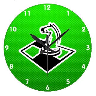 Grünes Schach Uhren