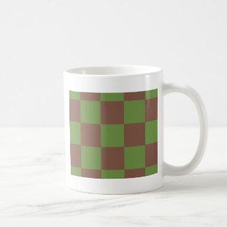 Grünes Schachbrett Browns Kaffeetasse