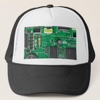 grünes Schaltungsbrettcomputermuster Truckerkappe