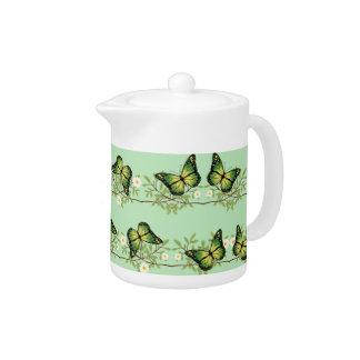Grünes Schmetterlingsmuster