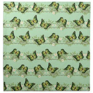 Grünes Schmetterlingsmuster Serviette