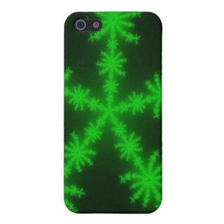 Grünes Schneeflocken iPhone 5 iPhone 5 Schutzhülle