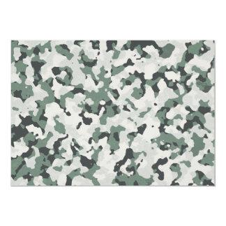 Grünes schwarzes multi Gelände Tarnungs-graues 12,7 X 17,8 Cm Einladungskarte