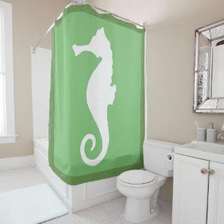 Grünes Seepferd Duschvorhang