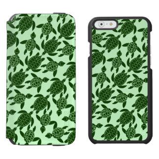Grünes Seeschildkröte-hübsches Tiermuster Incipio Watson™ iPhone 6 Geldbörsen Hülle