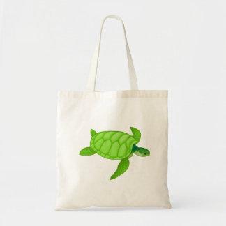 Grünes Seeschildkröte-Taschen-Tasche Tragetasche