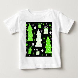 Grünes spielerisches Weihnachten Baby T-shirt