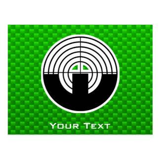 Grünes Sport-Schießen Postkarte