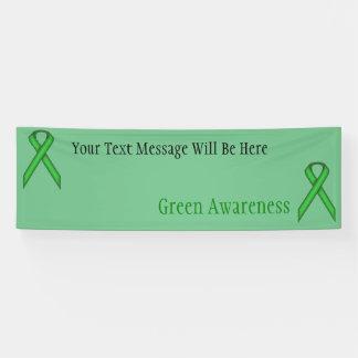 Grünes Standardband Banner