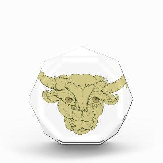 Grünes Stier-Kuh-Zeichnen Auszeichnung