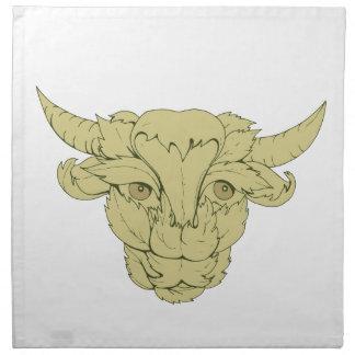 Grünes Stier-Kuh-Zeichnen Serviette