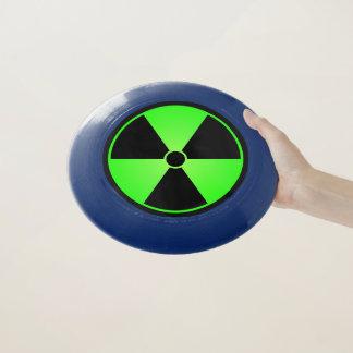 Grünes Strahlungs-Symbol Wham-O Frisbee
