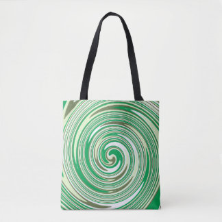 Grünes Strudelmuster Tasche