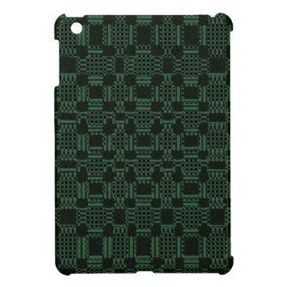 Grünes strukturiertes Quadratmuster iPad Mini Hülle