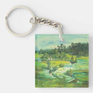grünes Tal Schlüsselanhänger