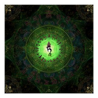 Grünes Tara - Schutz vor Gefahren und dem Leiden Perfektes Poster