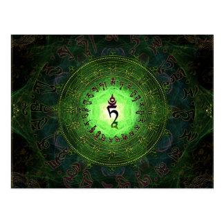 Grünes Tara - Schutz vor Gefahren und dem Leiden Postkarte