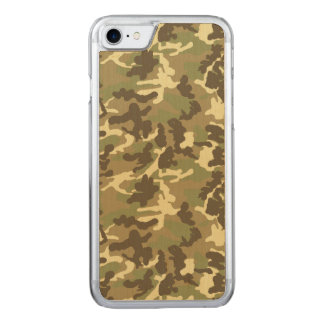 Grünes Tarnungs-Muster Carved iPhone 8/7 Hülle