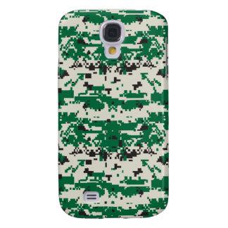 Grünes Tarnungs-Muster Digital Galaxy S4 Hülle