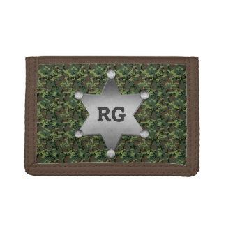 Grünes Tarnungs-Muster-Sheriff-Abzeichen-Monogramm