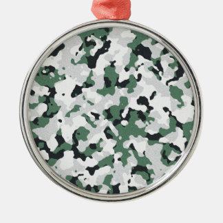Grünes Tarnungsmuster Silbernes Ornament