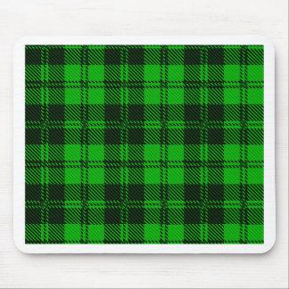 Grünes Tartan-Wolle-Material Mousepad
