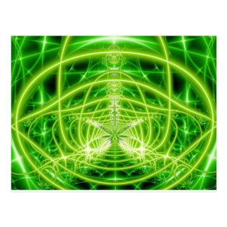 Grünes Topf-Blatt-Fraktal Postkarte