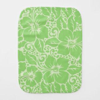 Grünes tropisches Blumen Baby Spucktuch