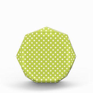 Grünes Tupfen-Muster Auszeichnung