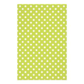 Grünes Tupfen-Muster Flyer