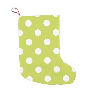 Grünes Tupfen-Muster Kleiner Weihnachtsstrumpf