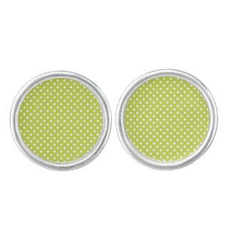 Grünes Tupfen-Muster Manschetten Knöpfe