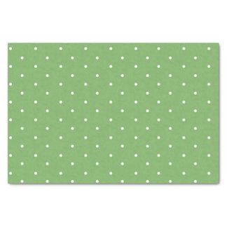 Grünes Tupfen-Seidenpapier Seidenpapier