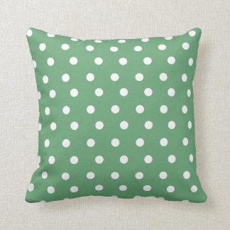 Grünes Tupfen-Wurfs-Kissen-Kissen Kissen
