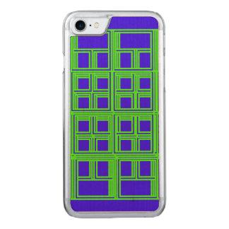 Grünes und blaues geometrisches abstraktes Muster Carved iPhone 8/7 Hülle