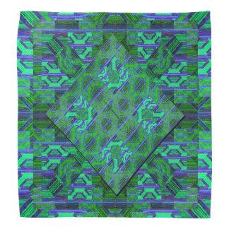 Grünes und blaues Muster Halstuch