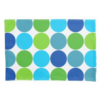 Grünes und blaues Tupfen-Muster Kissen Bezug