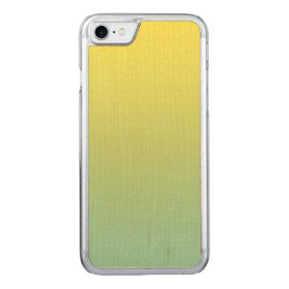 Grünes und gelbes Ahorn-Holz Carved iPhone 8/7 Hülle