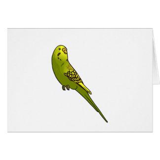 Grünes und gelbes budgie karte